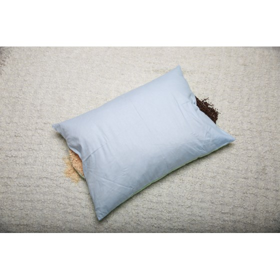 Подушка двухсторонняя с лузгой гречихи и хвойными опилками, 50*70